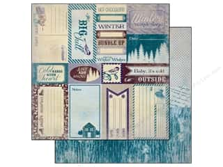Winter inches: Authentique 12 x 12 in. Paper Seasons Winter Collection Enhancement (25 pieces)