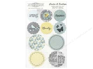 Authentique Die Cut Renew Circles &amp; Scallops (12 set)