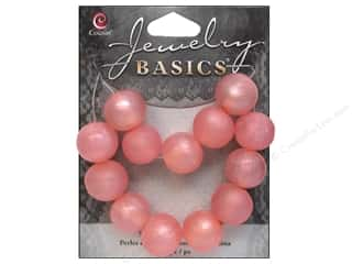Resin/Synthetic Bead: Cousin Bead Resin Round 14mm Pink 13pc