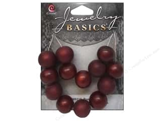 Cousin Bead Resin Round 14mm Red 13pc