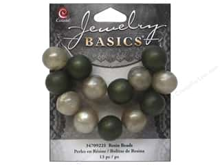 2013 Crafties - Best Adhesive: Cousin Bead Resin Round 14mm Green 13pc