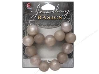 Cousin Bead Resin Round 14mm Silver 13pc