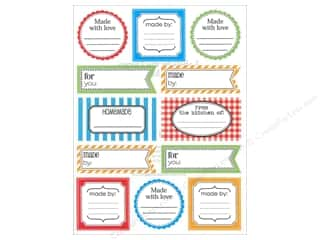 stickers  -3D -cardstock -fabric: SRM Press Sticker Labels by the Dozen Made By