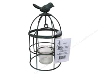 SPC Metal Birdcage Tea Light Holder with Bird 7.5""