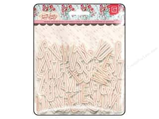 BasicGrey Chipboard Alphabet Stickers True Love