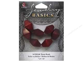 Cousin Bead Resin Bicone 17mm Red 7pc