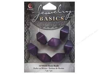 Cousin Bead Resin Bicone 17mm Purple 7pc