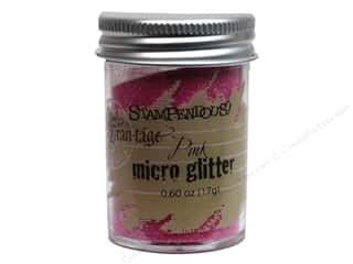 Stampendous Fran-Tage Glitter Micro Pink .60oz