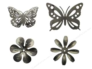 Decorations $1 - $4: Sierra Pacific Decor Tin Embellishments 1 pc. Assorted