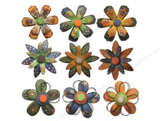 "SPC Metal Flowers 4.5"" Assorted 9/Style 3/Color"