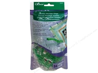 "Guidelines 4 Quilting 24"": Clover Wonder Clips Jumbo 24pc"