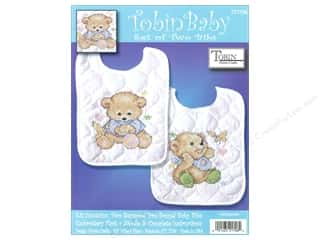 Tobin Kit Stamped Baby Bibs Baby Bears 2pc