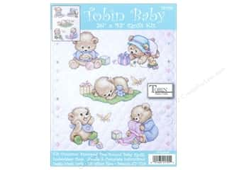 Tobin Kit Stamped Baby Quilt 34&quot;x 43&quot; Baby Bears