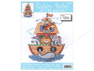 Tobin Kit Stamped Baby Quilt 34&quot;x 43&quot; Noah&#39;s Ark