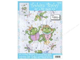 Tobin Kit Stamped Baby Quilt 34&quot;x 43&quot; Froggie Fun