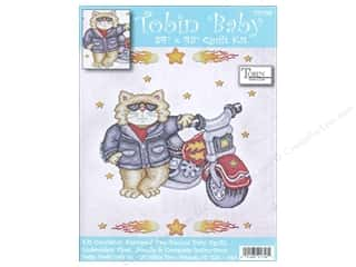 Tobin Kit Stamped Baby Quilt 34&quot;x 43&quot; BornToBeWild