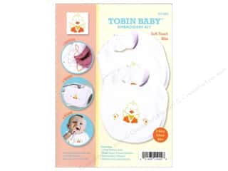 Tobin Yarn Kits: Tobin Kit Embroidery Bib Set Duck 2pc