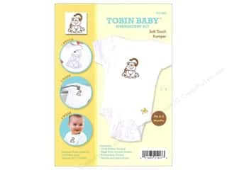 Tobin Animals: Tobin Kit Embroidery Romper Onesie 0-3mo Monkey