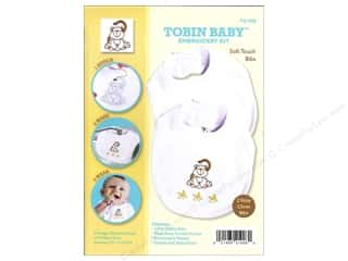 Tobin Yarn Kits: Tobin Kit Embroidery Bib Set Monkey 2pc