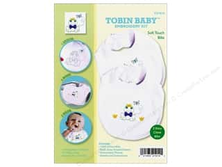 Tobin Yarn Kits: Tobin Kit Embroidery Bib Set Frog 2pc