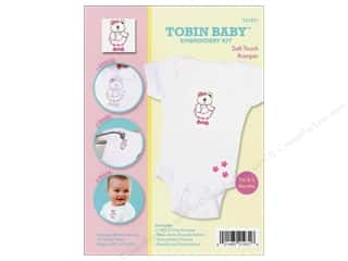 Teddy Bears Crafting Kits: Tobin Kit Embroidery Romper Onesie 0-3mo Bear