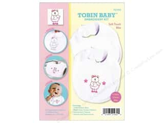 Teddy Bears Crafting Kits: Tobin Kit Embroidery Bib Set Bear 2pc