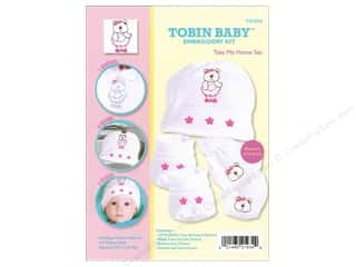 Teddy Bears Crafting Kits: Tobin Kit Embroidery Take Me Home Set Newborn Bear