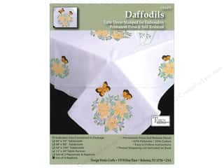 Tobin Stamped Napkins Daffodils 4pc