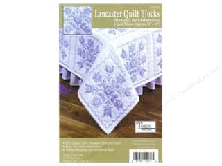 "Stamped Goods Stamped Tablecloths: Tobin Stamped Quilt Block 18"" Lancaster 6pc"
