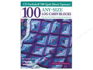 Printing Art Accessories: Leisure Arts 100 Any Size Log Cabin Blocks Book