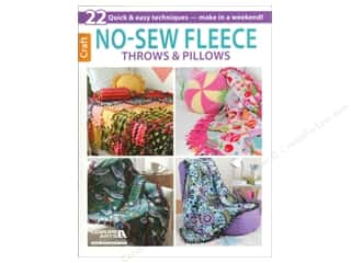 Clearance Blumenthal Favorite Findings Sewing & Quilting: Leisure Arts No Sew Fleece Throws & Pillows Book