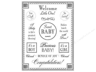 SRM Press Sticker Fancy Sentiments Baby