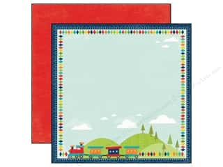 Echo Park 12 x 12 in. Paper Scoot Trains (25 piece)