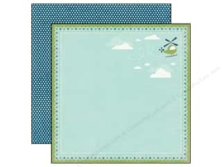 Back To School Echo Park 12 x 12 in. Paper: Echo Park 12 x 12 in. Paper Scoot Collection Helicopters (25 pieces)