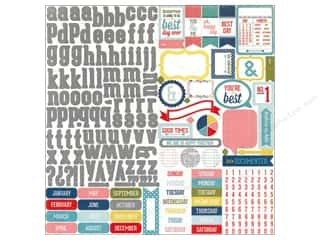 "Echo Park Paper Company Alphabet Stickers: Echo Park Sticker 12""x 12"" Volume 1 Element (15 sets)"