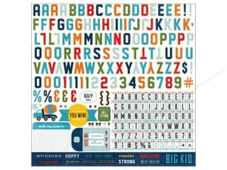 "Echo Park Paper Company Alphabet Stickers: Echo Park Sticker 12""x 12"" Scoot Alphabet (15 sets)"