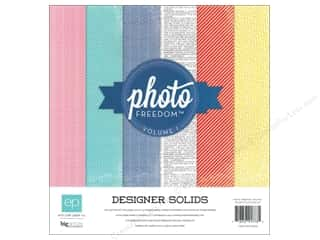 Echo Park Paper Company Echo Park Collection Kit: Echo Park 12 x 12 in. Photo Freedom Volume 1 Designer Solids Collection Kit