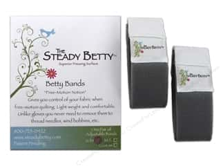 Gloves Grey: Steady Betty Bands Adjustable Size S/M One Pair