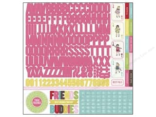 Carta Bella Theme Stickers / Collection Stickers: Carta Bella Sticker 12 x 12 in. True Friends Alphabet (15 sets)