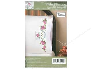 Stamped Goods Stamped Tablecloths: Tobin Stamped Pillowcase Pitcher 2pc