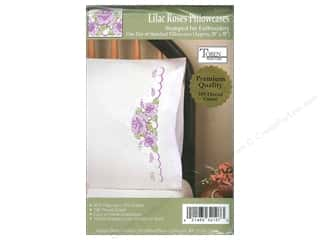 Lint Removers Projects & Kits: Tobin Stamped Pillowcase Lilac Rose 2pc