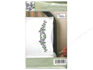 Tobin Stamped Pillowcase Floral Vine 2pc