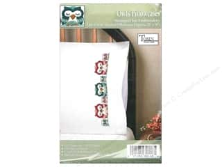 Tobin Stamped Pillowcase Owls 2pc