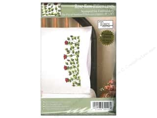 Tobin Embroidery: Tobin Stamped Pillowcase Rose Row 2pc