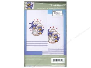 Stamped Goods Blue: Tobin Stamped Towel 20 x 28 in. Striped Birds