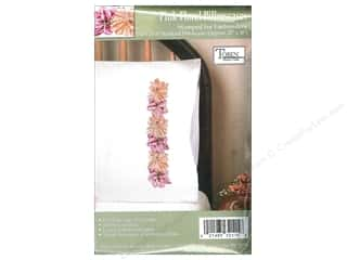 Tobin Yarn Kits: Tobin Stamped Pillowcase Pink Floral 2pc