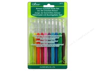 crochet hook: Clover Amour Crochet Hook Set 10 pc.