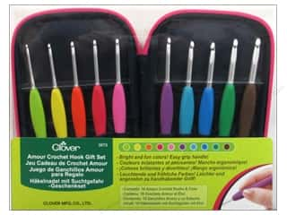 clover crochet: Clover Amour Crochet Hook Gift Set 10pc