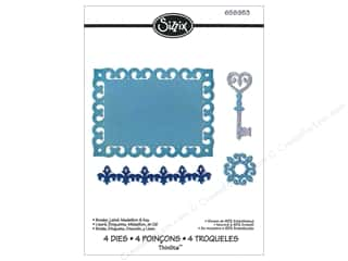 Borders $4 - $8: Sizzix Thinlits Die Set 4PK Border, Label, Medallion & Key by Rachael Bright