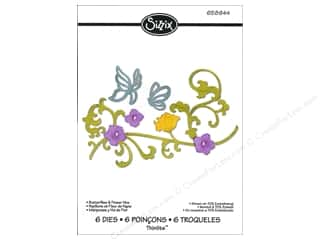 Sizzix Thinlits Die Set 6PK Butterflies & Flower Vine
